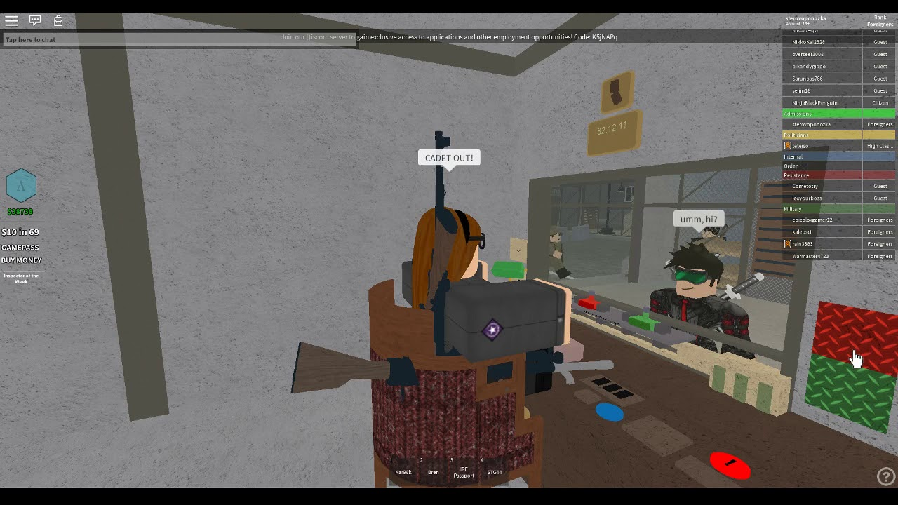 Roblox Papers Please As Admission Exploiters And Rking Cadets