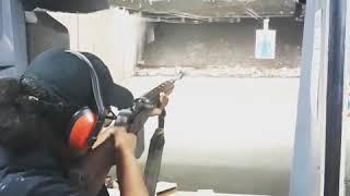 Part 2# Renata shooting M14 BFG big rifle tiny girl