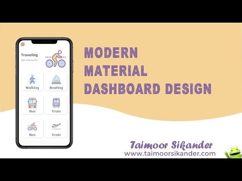 Create A Modern Dashboard In Android Studio Using Material Design | For All Screen Sizes