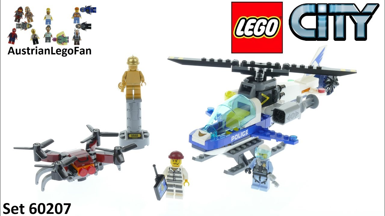 Lego City 60207 Sky Police Drone Chase Lego 60207 Speed Build