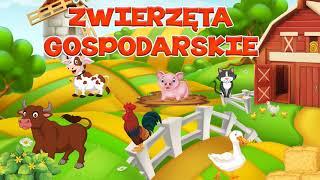 🐷Zwierzęta gospodarskie dla dzieci - odgłosy zwierząt na wsi
