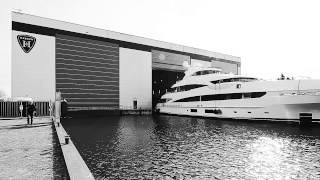 Heesen launches My Sky superyacht - Time lapse video