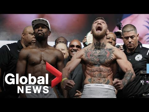 Thumbnail: Floyd Mayweather vs. Conor McGregor weigh-in before superfight
