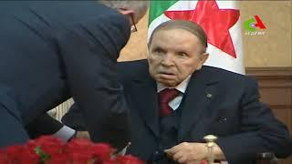 فيديو لحظة استقبال بوتفليقة للوزير الأول الجديد نور الدين بدوي ونائبه رمطان لعمامرة