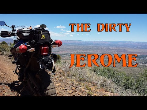 Back Road to Jerome Arizona via Mingus Mountain - Triumph Tiger 800 XCx Off Road Ghost Town