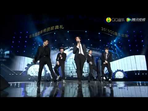 150325 WINNER - EMPTY + DON'T FLIRT + SMILE AGAIN @ QQ MUSIC AWARDS 2015