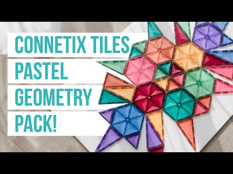 Introducing the Connetix Tiles PASTEL GEOMETRY PACK!