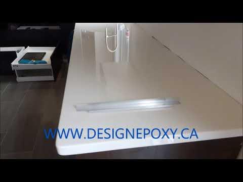 Faux White Quartz epoxy countertop