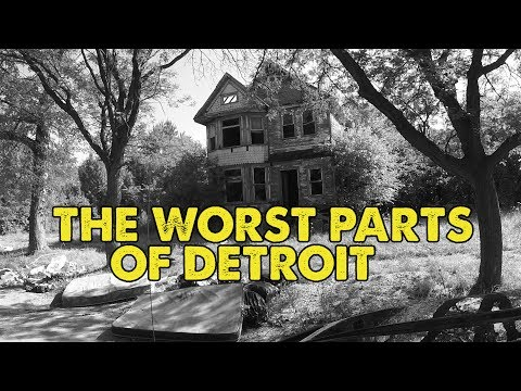 I drove through the worst parts of Detroit, Michigan. This i