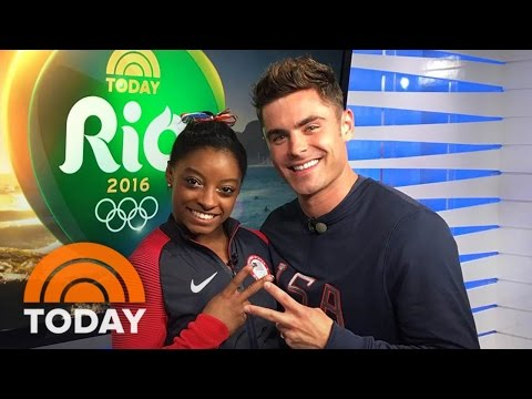 Simone Biles Met Zac Efron: See Her Priceless Reaction To Surprise | TODAY
