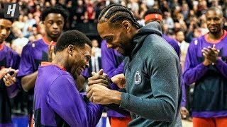 Kawhi Leonard Receives His Championship Ring in Toronto