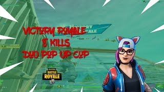 Solo POP UP Cup Win 9 kill game./ FORTNITE