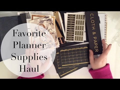 Favorite Chic Planner Supplies!! Haul from Cloth & Paper!