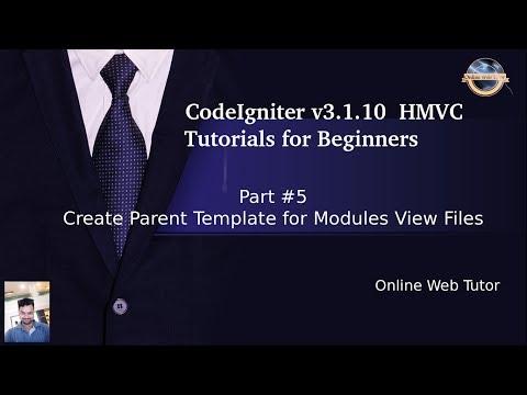 Learn CodeIgniter (v3.1.10) HMVC Tutorials for Beginner #5 - Create Parent Template - Modules Views thumbnail