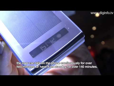 Sharp Solar Waterproof Mobile Phone : DigInfo 2009