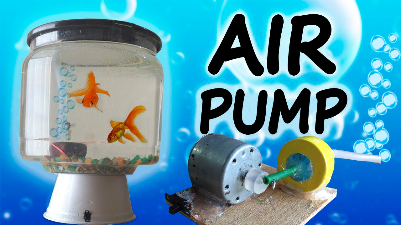 How to make a mini air pump home aquarium youtube for Air pump for fish tank
