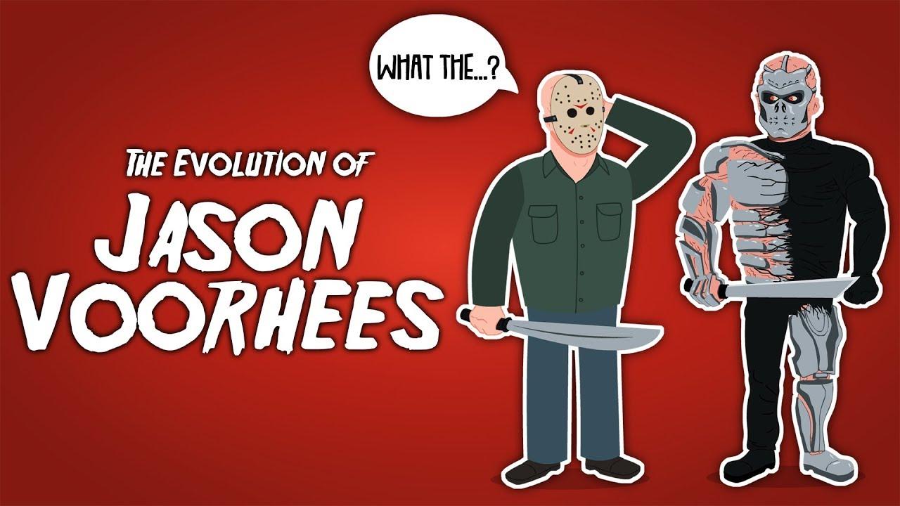 Halloween Jason Mask Cartoon.The Evolution Of Jason Voorhees Animated