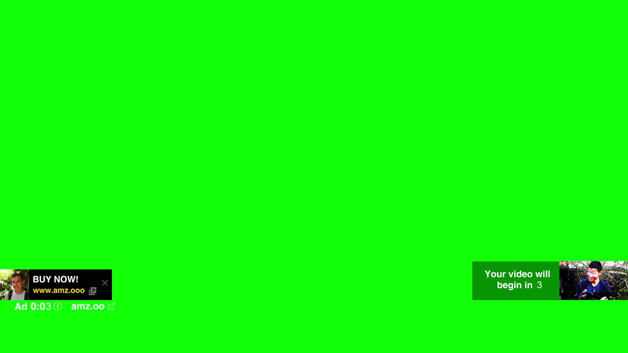 YouTube Ad Template Green Screen Amzoo YouTube - Youtube ad template