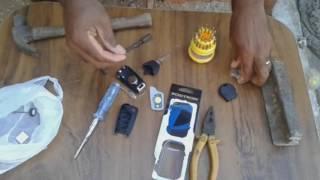 Instalando a Chave Canivete + colocação do Chip de codificação
