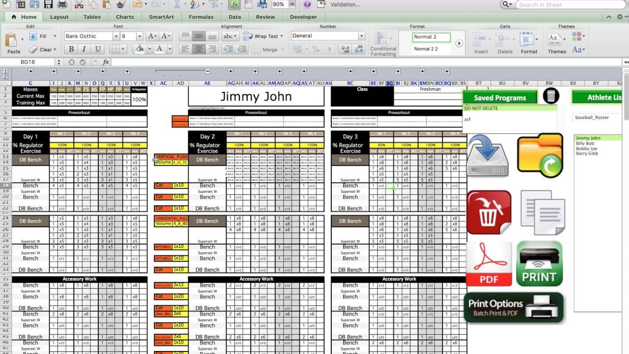 training design template