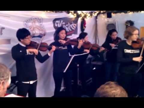 Civic Orchestra of Chicago performing at Christkindlmarket Chicago, November 30, 2016 (Part 1)