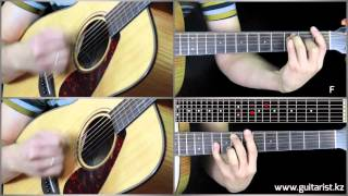 Рекорд оркестр - Лада седан (Уроки игры на гитаре Guitarist.kz)