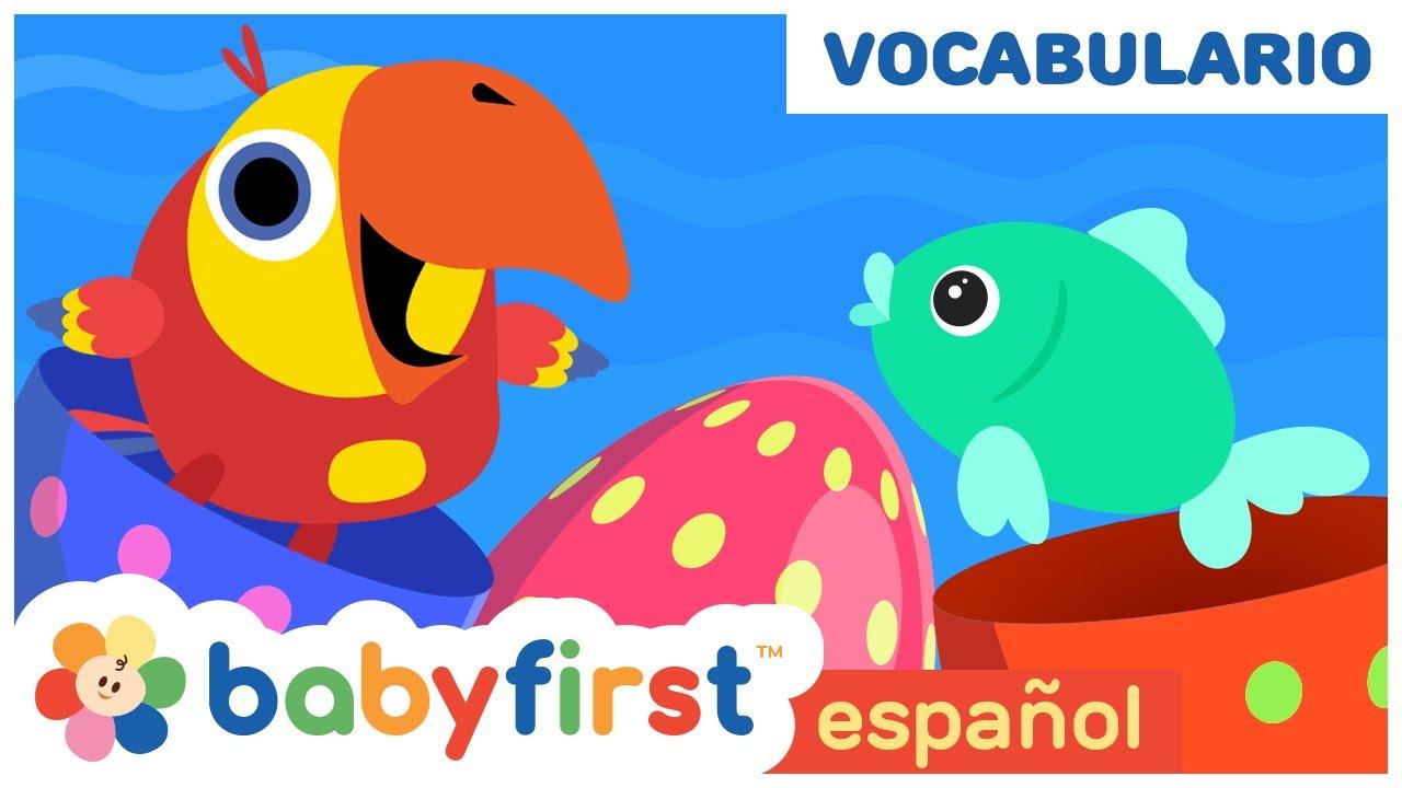 Nuevas palabras y colores con Larry Huevos Sorpresa | Conociendo los Animales | Babyfirst español