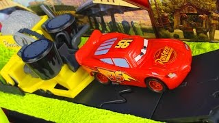 Disney Pixar Cars Mega Mack Playtown With Talking Mack Lightning McQueen Doc Hudson And Bessie