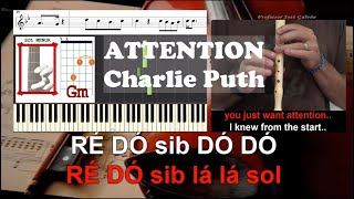 Attention Charlie Puth Educacao Musical Flauta Piano Guitarra Letra Partitura  Jose Galvao Video