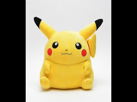 life size chubby pikachu plush for sale youtube