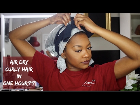 How to make my curly hair dry faster