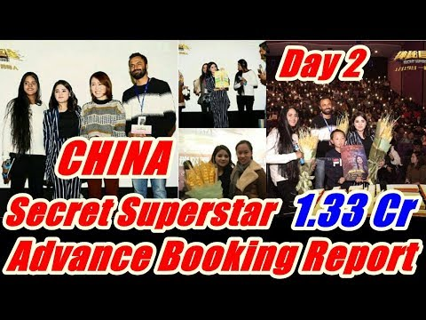 Secret Superstar Advance Booking Day 2 In CHINA
