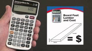 Construction Master Pro DT Board Feet Lumber Cost How To