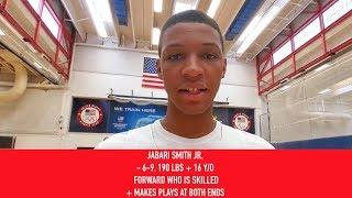 Jabari Smith Jr: 2019 USA Baskebtall Junior Minicamp Interview