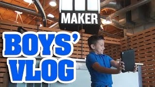 BOYS' VLOG - Making Videos with Bratayley, Flippin' Katie & Working with Lemons!