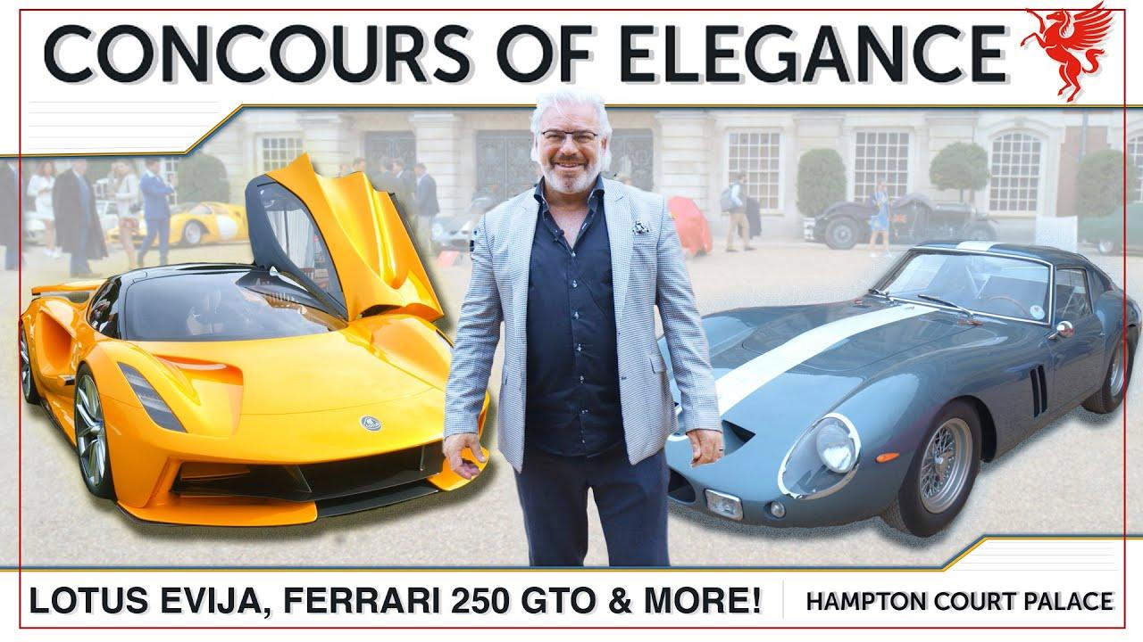 Analysing The $50 MILLION DOLLAR Ferrari 250 GTO, Lotus Evija & MORE at Concours Of Elegance!