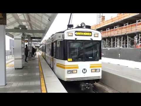LA Metro Rail: 1990 Nippon Sharyo P865 & 1995 Nippon Sharyo P2020 Blue & Expo Lines at Pico Station