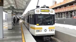 la metro rail 1990 nippon sharyo p865 1995 nippon sharyo p2020 blue expo lines at pico station