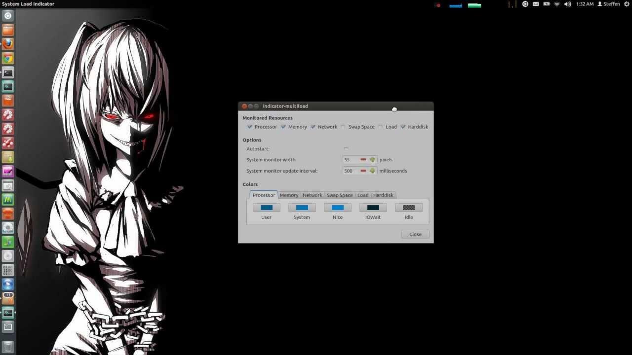System/CPU Frequency Indicator - Ubuntu 12 04