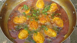 Egg Masala Gravy Recipe   Simple and Delicious Egg Curry   Cooking By Street Village Food