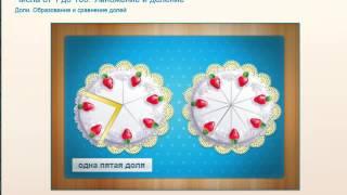 Доли Образование и сравнение долей Математика Моро,Математика 3 класс Моро,Моро