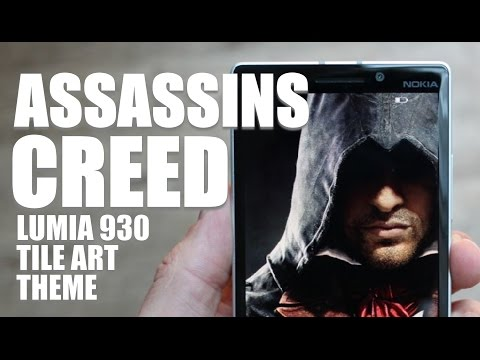 Assassins Creed Lumia 930 Tile Art Theme