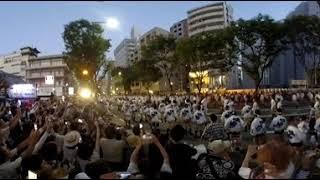 【360度動画】 博多祇園山笠追い山2018 西流 thumbnail