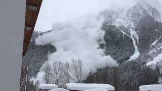 Force of Nature: Avalanche Pours Down Mountain in Austria