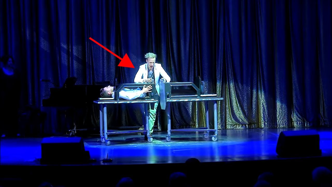 Magician Sawing in Half illusion with a guy | Best Magician Trick by Ryan Joyce Touring Tricks