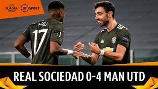 Real Sociedad vs. Manchester United (0-4) | Bruno Fernandes masterclass | Europa League Highlights