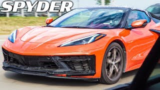 SPOTTED THE NEW MID-ENGINE C8 CORVETTE SPYDER IN DETROIT! *OFFICIAL TESTING VEHICLES*
