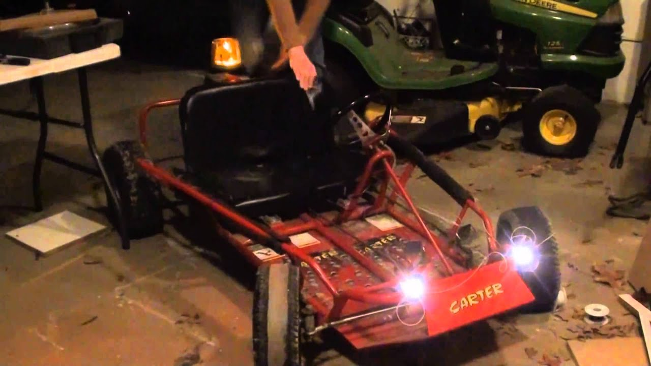 hook up lights on go kart