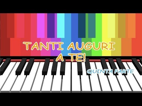 Tutorial Pianoforte Tanti Auguri A Te V Accompagnamento Youtube