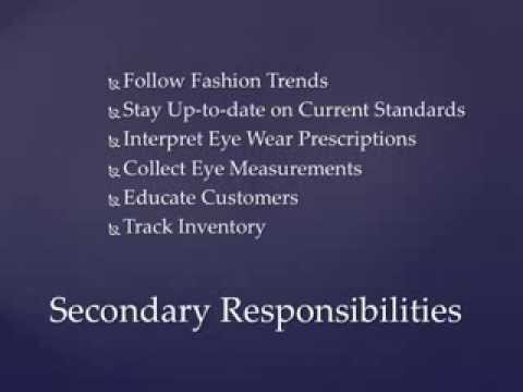 Optician Job Description And Competency Standards YouTube - Job description of an optician